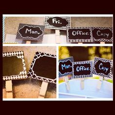 Clippable Chalkboard Labels.   #Create2Educate #Sweepstakes. Enter your own project for a chance to win a $50 gift card to Michaels.   Learn more:  https://www.facebook.com/Michaels?sk=app_584051421645085