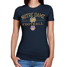 Medium Navy Champion NCAA Notre Dame Fighting Irish Girls Tank Top with Scoop Neck and Racer Back