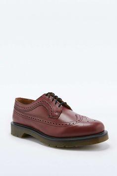 Dr. Martens Wingtip Cherry Brogue Shoes