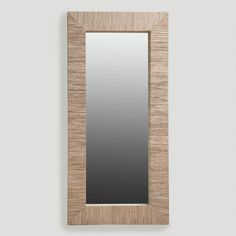 One of my favorite discoveries at WorldMarket.com: Water Hyacinth Mirror, Oversized