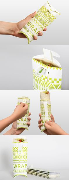 Creative wrapping for tacos greek souvlaki lebanese food etc. - Delivery Food - Ideas of Delivery Food - Creative wrapping for tacos greek souvlaki lebanese food etc. Innovative Packaging, Cool Packaging, Food Packaging Design, Packaging Boxes, Product Packaging, Delivery Comida, Taco Delivery, Delivery Food, Food Truck Design