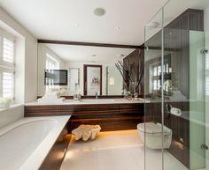 dark wood accent wall bath - Поиск в Google