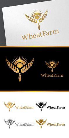 Wheat Farm Logo Template. Logo Templates