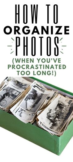 What to do with all of the photos you have stuffed in boxes. Simple tips for organizing photos when you've waited too long to get started. Picture Storage, Best Photo Storage, Photo Album Storage, Old Family Photos, Family Pictures, Effects Photoshop, Adobe Photoshop, Foto Fun, Organized Mom