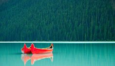 #Shutterstock's 15 Most #Viral Images of 2015 - #Photography #Photos #Imagery #Social - Canoes on lake stock photo