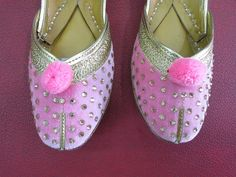 Bridal Pink Flat Shoes Womens Pink Flats Indian by BeautyShop21