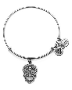 Alex and Ani Calavera Expandable Wire Bangle Jewelry & Accessories - Bloomingdale's Jewelry Box, Jewelry Watches, Jewelry Accessories, Alex And Ani Bracelets, Charm Bracelets, Diy Bracelet, The Bling Ring, Bangles Making, Skull Pendant