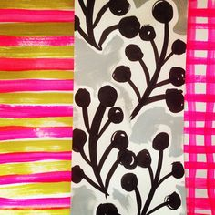 Very much enjoy this composition--the different contrasting patterns playing off one another! Sewn- pattern play