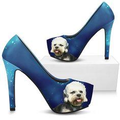 Dandie Dinmont Terrier Print Heels- Free Shipping
