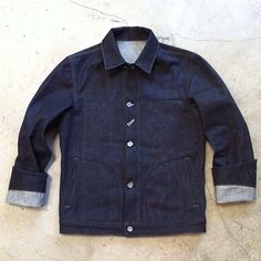 rogueterritory:    First round #prototype #denim jacket. 14.5oz #indigo…