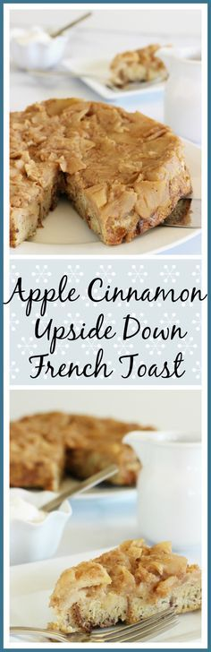 Sponsored by Truvia Nectar~ Easy, make ahead brunch recipe that's surprisingly low carb! Apple Cinnamon Upside Down French Toast|Craving Something Healthy