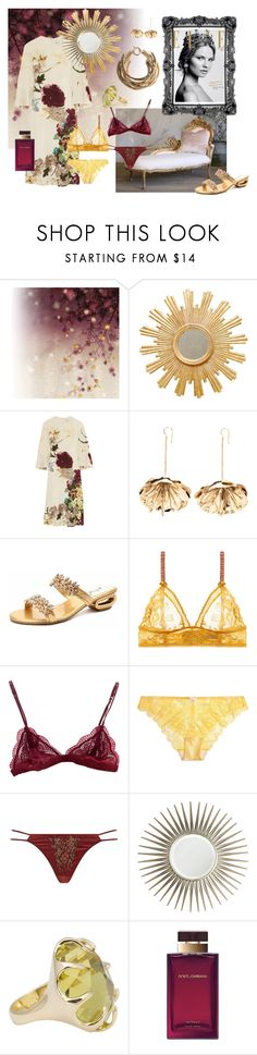"""""""The Queen in Repose"""" by reefcrush on Polyvore featuring Brian Yates, Magdalena, Worlds Away, Valentino, Aurélie Bidermann, STELLA McCARTNEY, Posh Girl, Heidi Klum Intimates, Agent Provocateur and Mirror Image Home"""