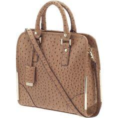 Ivanka Trump Crystal Top Handle Shopper Tote Handbag ❤ liked on Polyvore