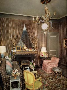 Babe Paley's NYC  living room by the legandary Billy Baldwin.