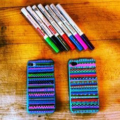 Decorated iPhone cases