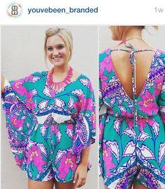 Floral kimono romper! Branded Boutique, Brenham TX @youvebeen_branded