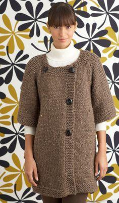 Free Knitting Pattern 70550AD Waterford Cardigan : Lion Brand Yarn Company