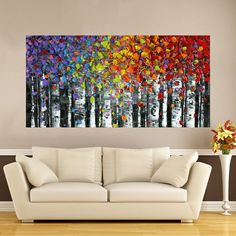Best Tips for Painting with Textured Paint Small Canvas Art, Diy Canvas Art, Rainbow Art, Wall Art Pictures, Texture Painting, Tree Art, Watercolor Art, Modern Art, Art Projects