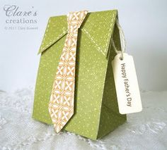 Tie gift box + template...such a cute idea for Fathers Day