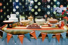 Retro dessert table by Southern Event Planners, Memphis Weddings