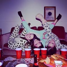 Have everyone wear a onesie. | 23 Badass Ideas For A Grown-Up Slumber Party