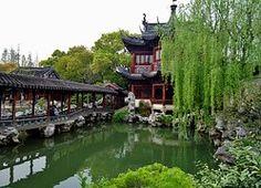 Garden, Temple, China, Shanghai