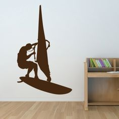 www.stickurz.com, Sport, Windsurf, Kids, Teenager, Sticker, Wall Decal, Design, Decoration, wall tattoo