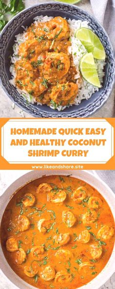 #homemade #healthy #coconut #shrimp #quick #curry #easy #and HOMEMADE QUICK EASY AND HEALTHY COCONUT SHRIMP CURRYYou can find Curry shrimp and more on our website.HOMEMADE QUICK EASY AND HEALTHY COCONUT SHRIMP CURRY Easy Prawn Recipes, Curry Recipes, Seafood Recipes, Cooking Recipes, Healthy Recipes, Seafood Dishes, Cooking Ideas, Shrimp Coconut Milk, Healthy Coconut Shrimp
