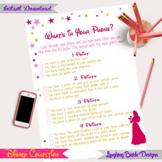 Disney theme bridal shower game What's in by LaughingBrideDesigns                                                                                                                                                      More