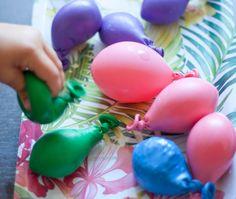 Globos sensoriales, un juego estimulante para niños.