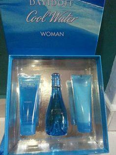 SET DAVIDOFF COOL WATER for WOMEN Perfume+ lotion 100ml+ shower gel 100ml RM200
