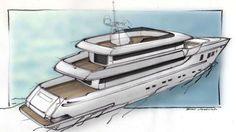 Otam 35SD superyacht sketch