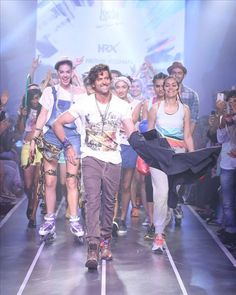 Jr.Roshan presented his HRX fitness and lifestyle brand at Myntra Fashion Week 2014. With his stupendous high octane runway presentation, Hrithik displayed his fantastic collection of casual wear for men and women. The label is all about fashion forward styles, amazing fits, at affordable prices, perfect for the young men in India.