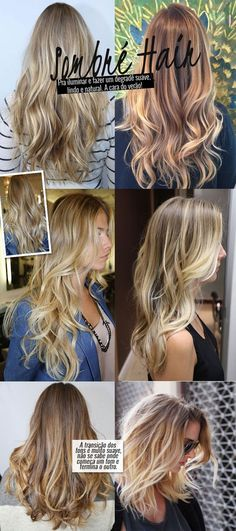 Discover recipes, home ideas, style inspiration and other ideas to try. Sombre Hair, Blonde Hair, Blonde Balayage, Haircuts For Long Hair, Curled Hairstyles, Langer Pony, Color Rubio, Colored Curly Hair, Corte Y Color