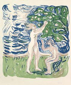 Edvard Munch (Norwegian, Løten 1863–1944 Ekely) Girls Picking Apples