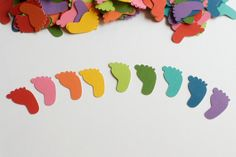 Rainbow Baby Shower Decoration Confetti by PassTheScissorsShop, $8.00