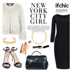 """""""White on black"""" by ifchic ❤ liked on Polyvore featuring mode, Surreal But Nice, Pink Tartan, JAY. M, Dee Keller, Gemma Redux et Chloé"""