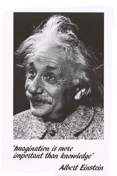 Albert Einstein Imagination Quote 22x34 Poster – BananaRoad