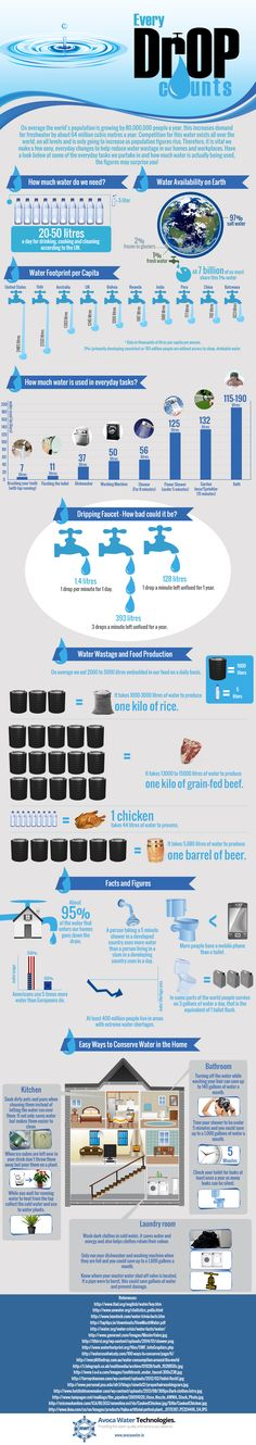 Water Wastage Infographic