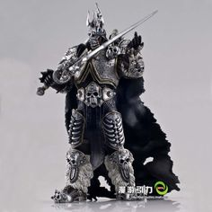 """World of Warcraft Lich King Arthas Death Knight FrostMourne Collection Action Figure Model 7"""" £20.16"""
