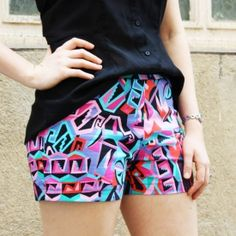 Make your own summer shorts from scratch with this easy step by step tutorial with free pattern included.