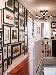 Family Art Wall in the upstairs hall - great place to put family photos and other art