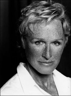 Glenn Close (born March is an American film, television and stage actress. I don't think so! She is rockin' the freckles. Glenn Close, Female Actresses, Actors & Actresses, Connecticut, Freckle Face, Blu Ray Movies, Actrices Hollywood, Black And White Portraits, Hollywood Stars