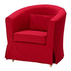 EKTORP TULLSTA Housse de fauteuil - Idemo rouge - IKEA