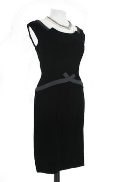 VINTAGE Back Velvet Drop Waist Dress