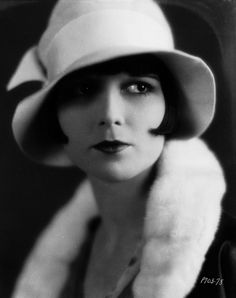 Louise Brooks - 1929 - Cloche hat, created by French milliner Caroline Reboux in 1923