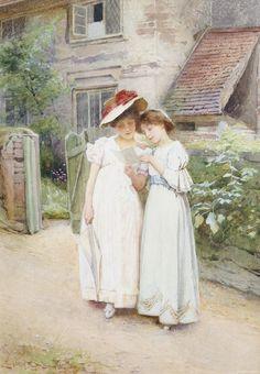 Английский художник Carlton Alfred Smith (1853-1946), акварель