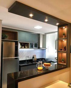 Kitchen Bar Design, Kitchen Layout, Home Decor Kitchen, Interior Design Kitchen, Kitchen Ideas, Kitchen Ceiling Design, Kitchen Colors, Kitchen Inspiration, Diy Kitchen