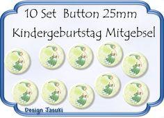10 Set Button Fee ,Kindergeburtstag Mitgebsel von Jasuki auf DaWanda.com