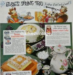 Elsie the Cow Ads Magazine | Vintage Elsie The Cow Borden Ad /Cows/ Magazine by mamiezvintage, $9 ...